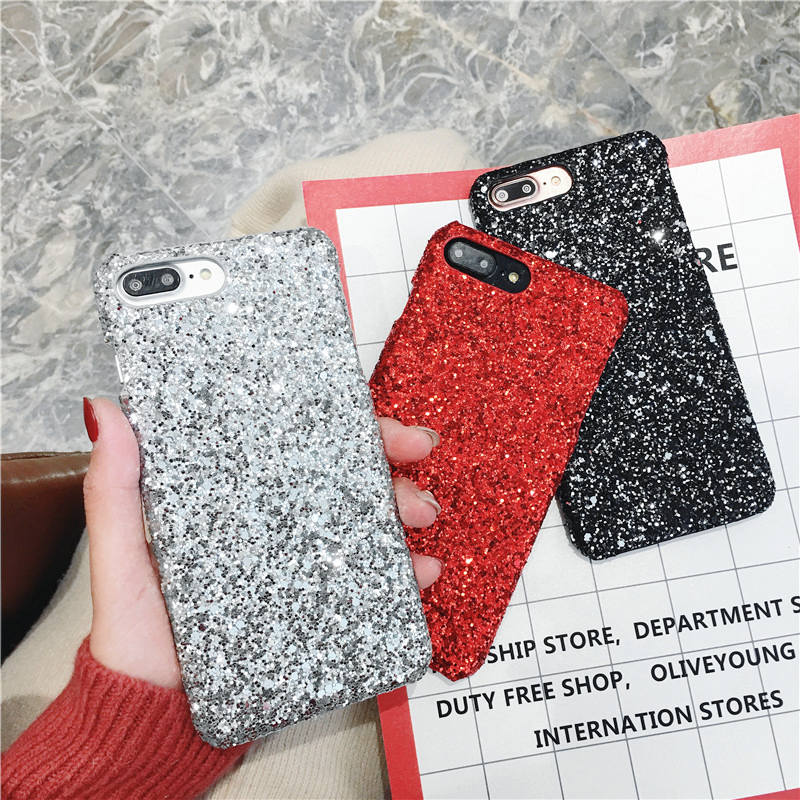 Bling Glitter Case For <font><b>OPPO</b></font> F9 Pro F5 F7 A7X <font><b>A57</b></font> A59 A77 A83 A73 A79 A3 A71 A37 A5 PC Hard <font><b>Back</b></font> <font><b>cover</b></font> For <font><b>OPPO</b></font> R17 Pro R9S Plus image