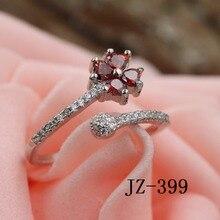 女性のファッション 925 スターリングシルバーリング結婚指輪のクリスタルファッションジュエリークローバー愛のジルコンシルバーリング