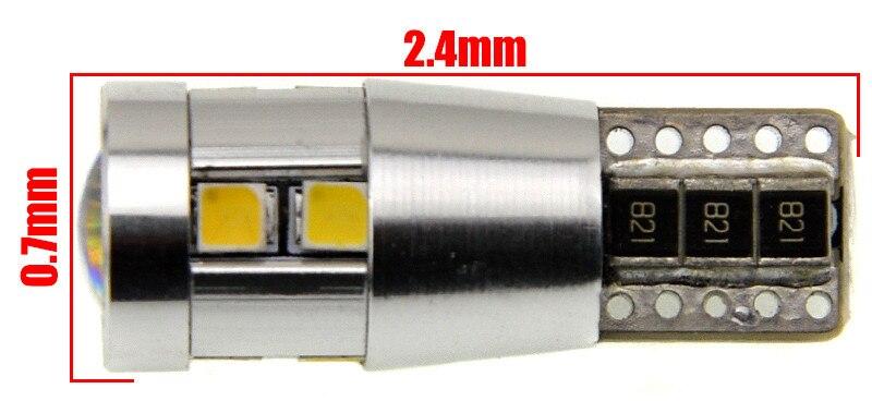 10X Высокое качество 10 SMD 10 Вт T10 W5W 168 194 2323 Клин CANBUS ОШИБОК светодиодные лампы белый маркер лампочки двери свет