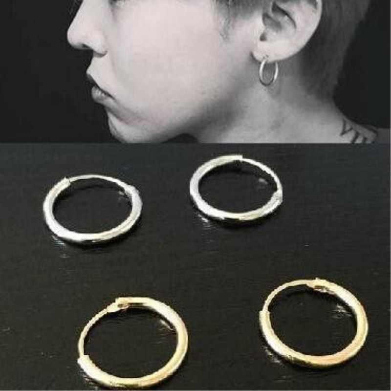 EK929 ร้อนเรียบง่าย Tiny ผู้ชาย Brincos เครื่องประดับเกาหลีวงกลมหู Hip Hoop ต่างหูและแหวนต่างหูหญิง