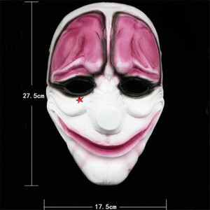 Image 3 - Payday 2 Mask Resin The Heist Dallas/Wolf/Chains/Hoxton cosplay halloween horror clown masquerade cosplay Carnaval Costume men