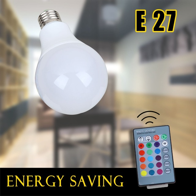 GEEXONG E27 LED Lampen Blase RGB Lampe Farbe Ändern LED100 240V LEDs  Lichter Dimmbare ändern