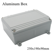 FA15 4 250x190x90mm IP65 Waterproof Terminal Metal Aluminum Junction Box Electronic Project Enclosure Instrument Case Outdoor