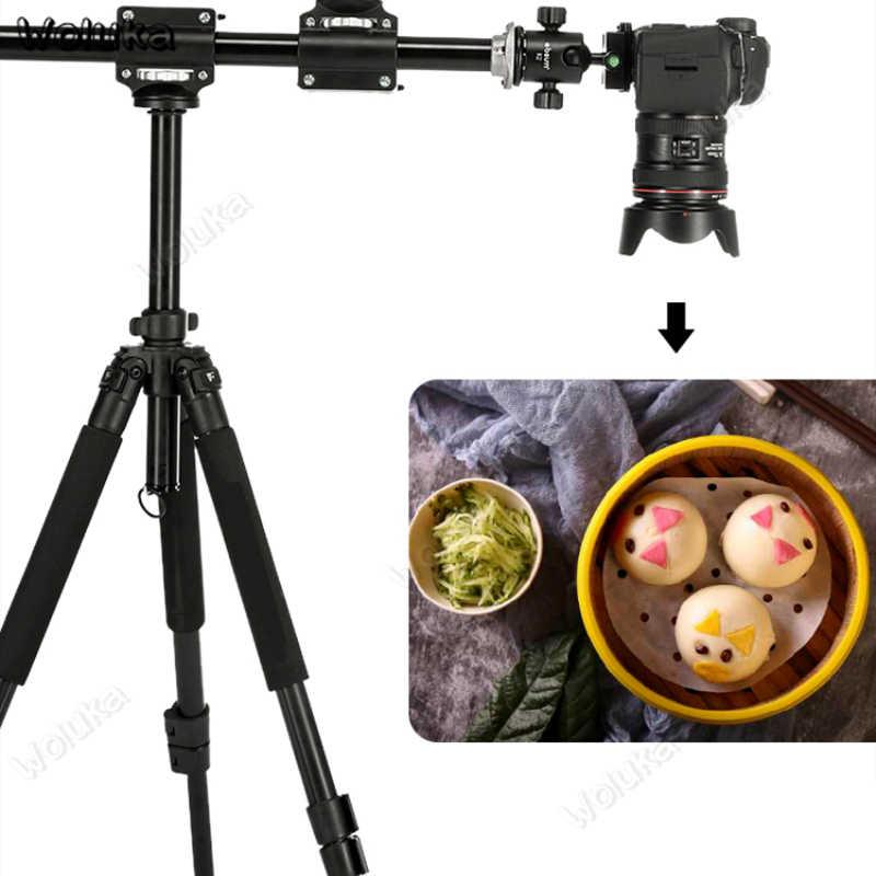 Crossbar overhead fotografia extensão haste tiro suporte 4 cabeça cruz-braço horizontal rhn para câmera dslr tripé cd05 t10