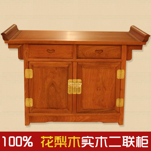 Myanmar Pear / Red Wood Furniture / Antique Furniture With Plate Sideboard  Bivalent Kitchen / Rosewood