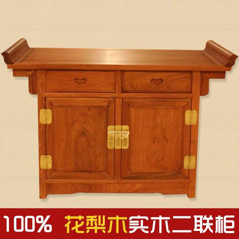 €14688.0 |Pera de Birmania/muebles de madera roja/muebles antiguos con  placa de cocina bivalente/gabinete de segunda junta de palisandro-in  Figuras y ...