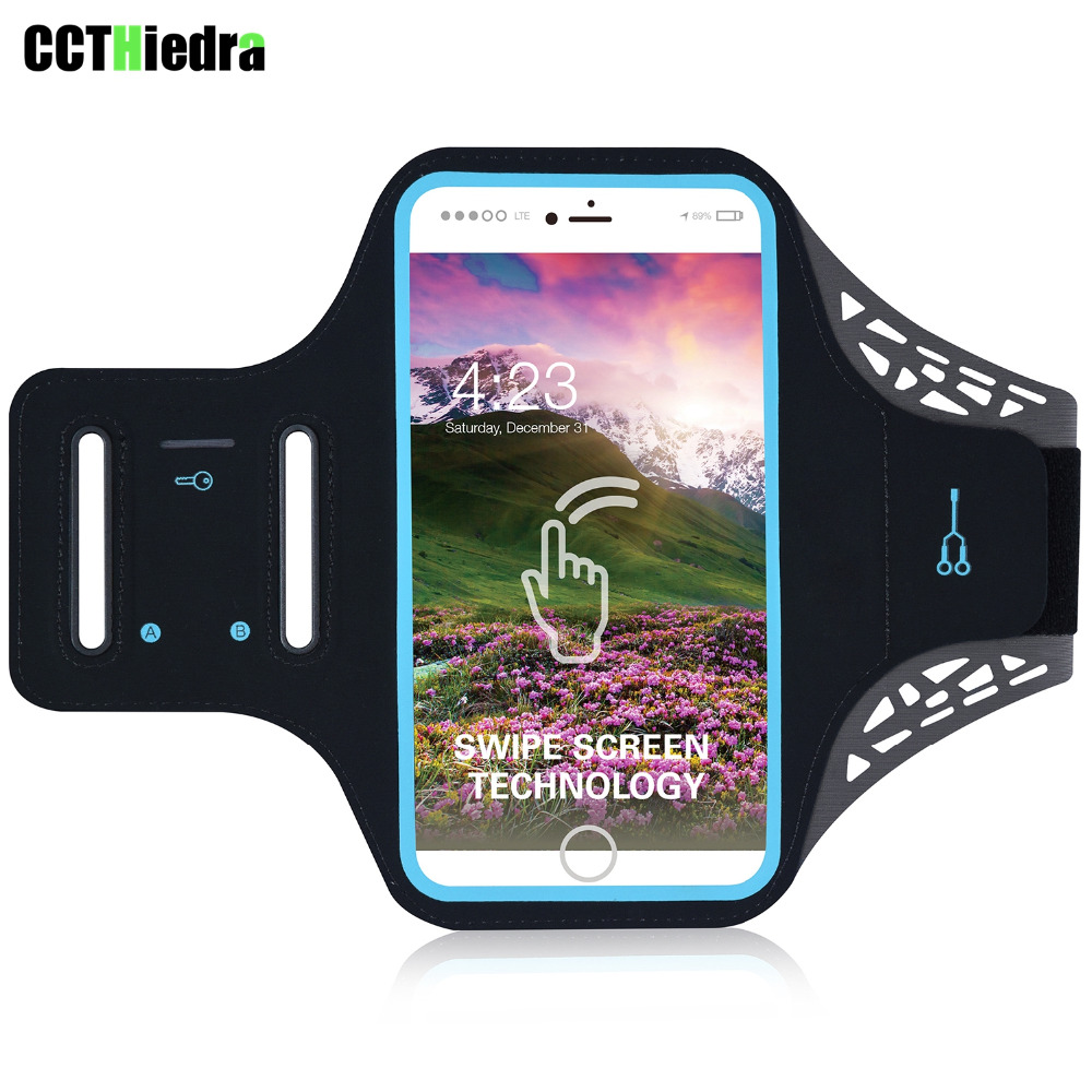 5.5 inch Ultra-thin Armband touch Waterproof Jogging Arm Sport Gym Mobile Phone Bags For Apple iPhone 8 Plus 7P 6 6s Plus