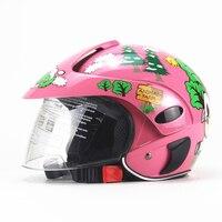 Half Face Motorcycle Helmet Cartoon Children Helmet for Motorcycle Safety Cap Capacete Moto Kids Crash Helmet for Girls And Boys
