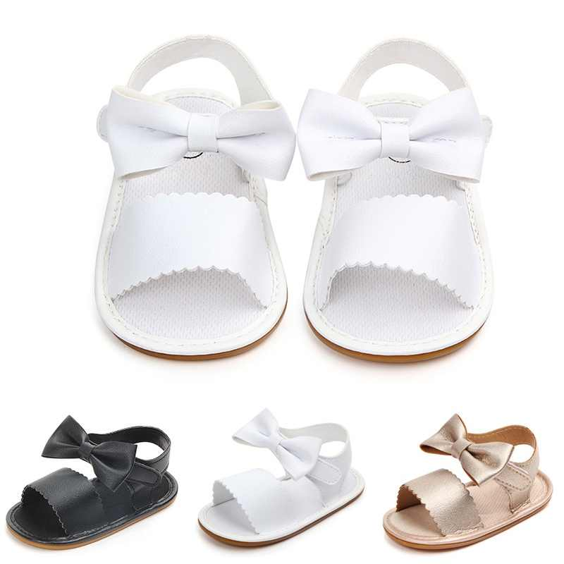 Baby Sandals Girl Princess Shoes Toddler Sweet Big Bowknot Soft Soles  Anti-Slip Chic Elegant a201ae1b9399