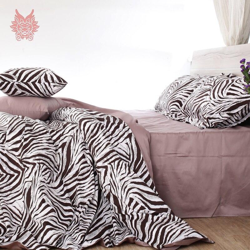 Zebra print capa de edredon set fluffy cotton bedding sets 100  cotton duvet  cover set bed sheet type King Queen size SP3171. Online Get Cheap Zebra Bed Set Queen  Aliexpress com   Alibaba Group