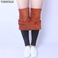 VISNXGI High Elastic Waist Winter Plus Velvet Thicken Women S Leggings Warm Pants Good Quality Cashmere