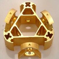 6*pcs Colorful metal 3D printer Kossel 2020 aluminum alloy delta angle Kossel corner kit CNC Aluminum Anodized Corner SET