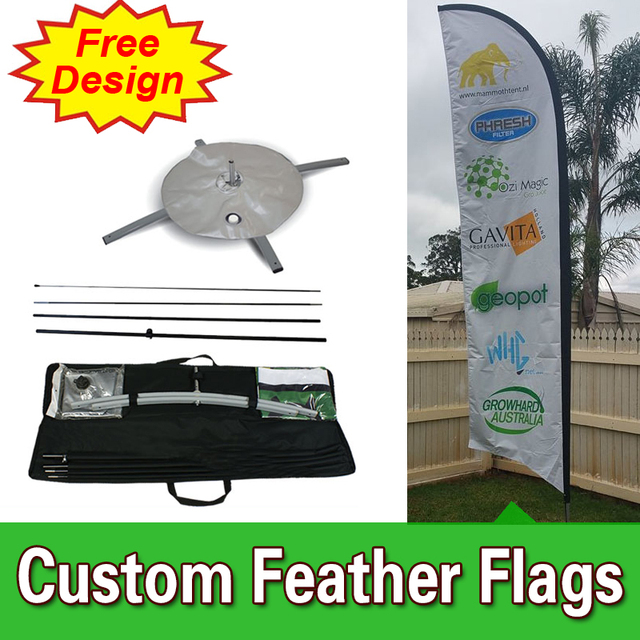 Free Design Free Shipping Double Sided Cross Base Feather Flag ...