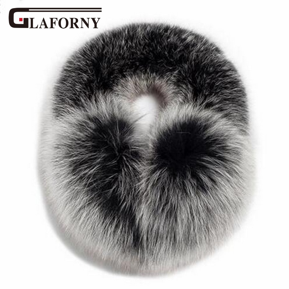 Glaforny 2019 New Women Warm Genuine Fox Fur Earmuffs Whole Fluffy Fur Ear Protectors Raccoon Fur Scarfs 2 Uses Korean Style