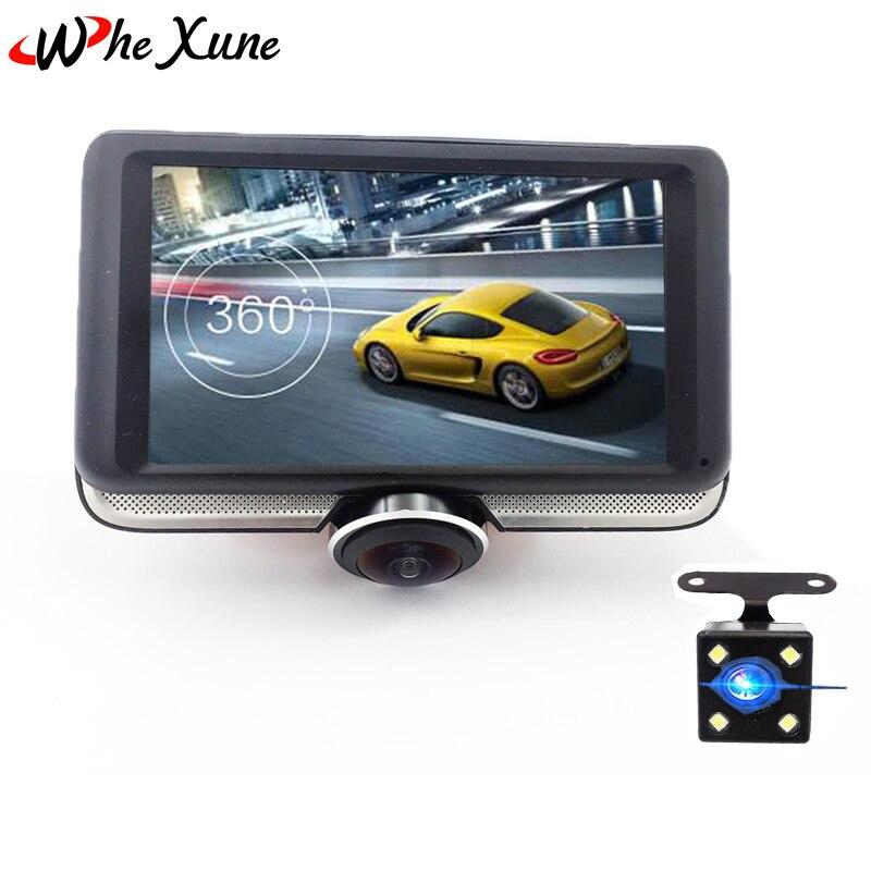 whexune 4 5 car dvr 360 degree panoramic video recorder camera dash cam with fisheye lens night. Black Bedroom Furniture Sets. Home Design Ideas