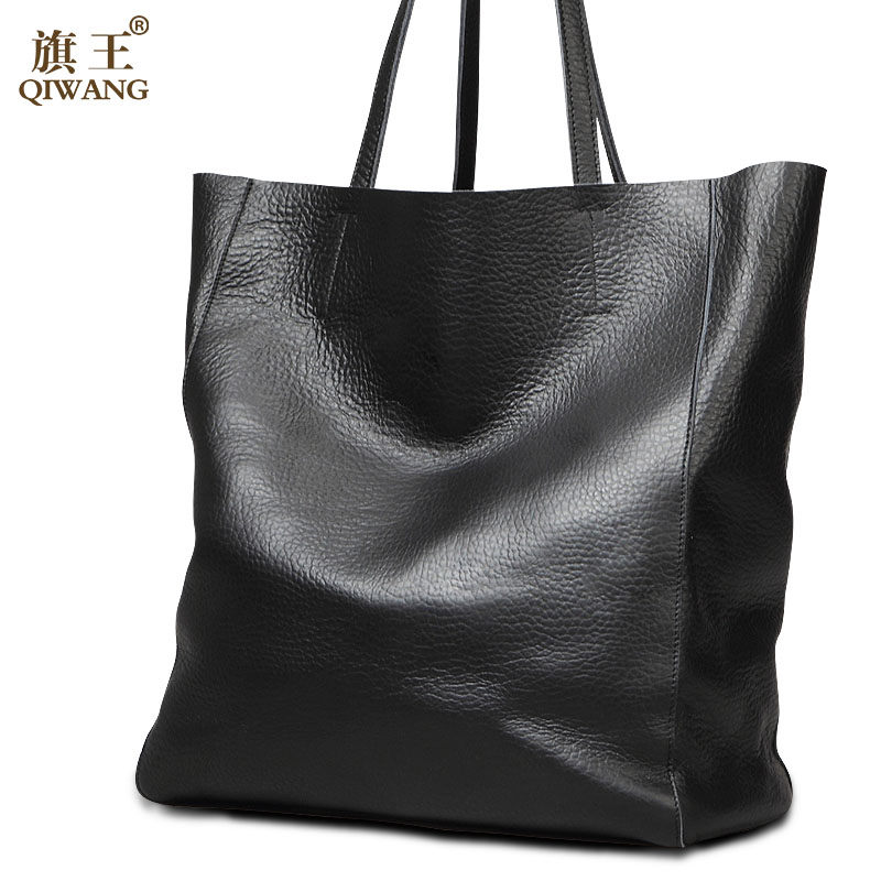 QIWANG Huge Capacity Bag Casual Famous Brand Women Bag 100% Genuine Leather Bag High Quality Fashion Luxury Women Handbags BIG rst rst 05301