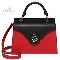 BAFELLI 2018 ВЕСНА Новинка lether split сумки двойного назначения hasp сумка Красный Черный bolsa feminina женские сумки через плечо