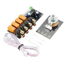 Переключение сигнала усилитель доска 4 до 1 аудио вход сигнала selector реле доска бесплатная доставка
