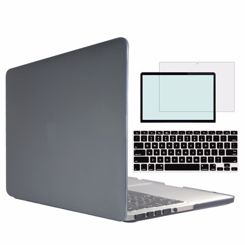 RYGOU Rubberize Matte/Crystal Clear Hard Case for Macbook Pro 15 with CD-ROM A1286 or Mac Book Pro Retina 15.4 inch A1398 Case