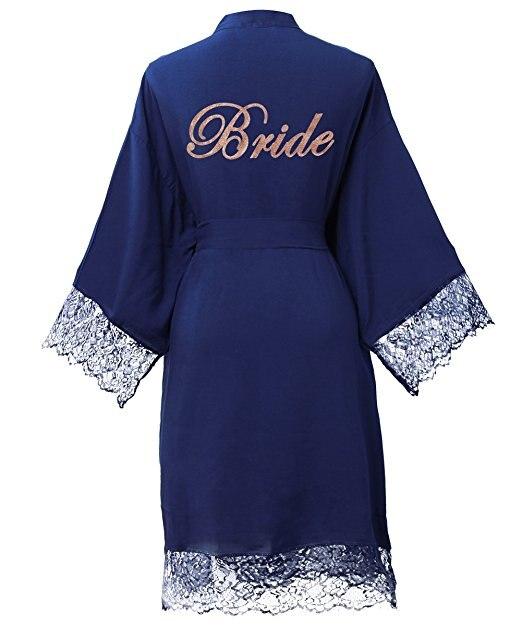 Festa de Casamento Se Preparando Robe com