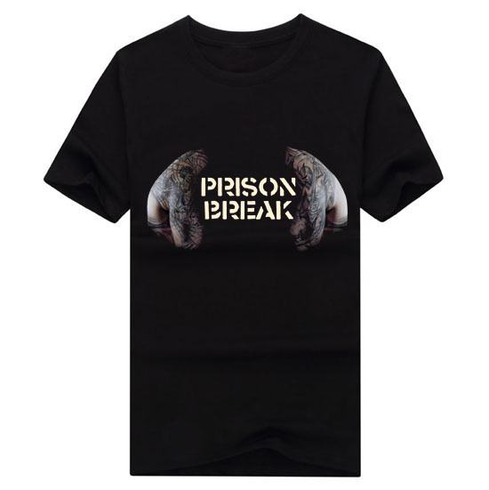 2017 Prison Break Michael Scofield T BAG Men s short sleeve T shirt Men Brand Casual