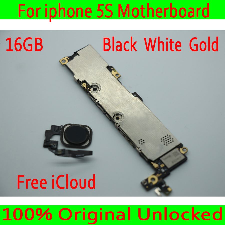 16GB for iphone 5S Motherboard with Touch ID,100% Original unlocked for iphone 5S Mainboard with Free iCloud,Black White Gold16GB for iphone 5S Motherboard with Touch ID,100% Original unlocked for iphone 5S Mainboard with Free iCloud,Black White Gold