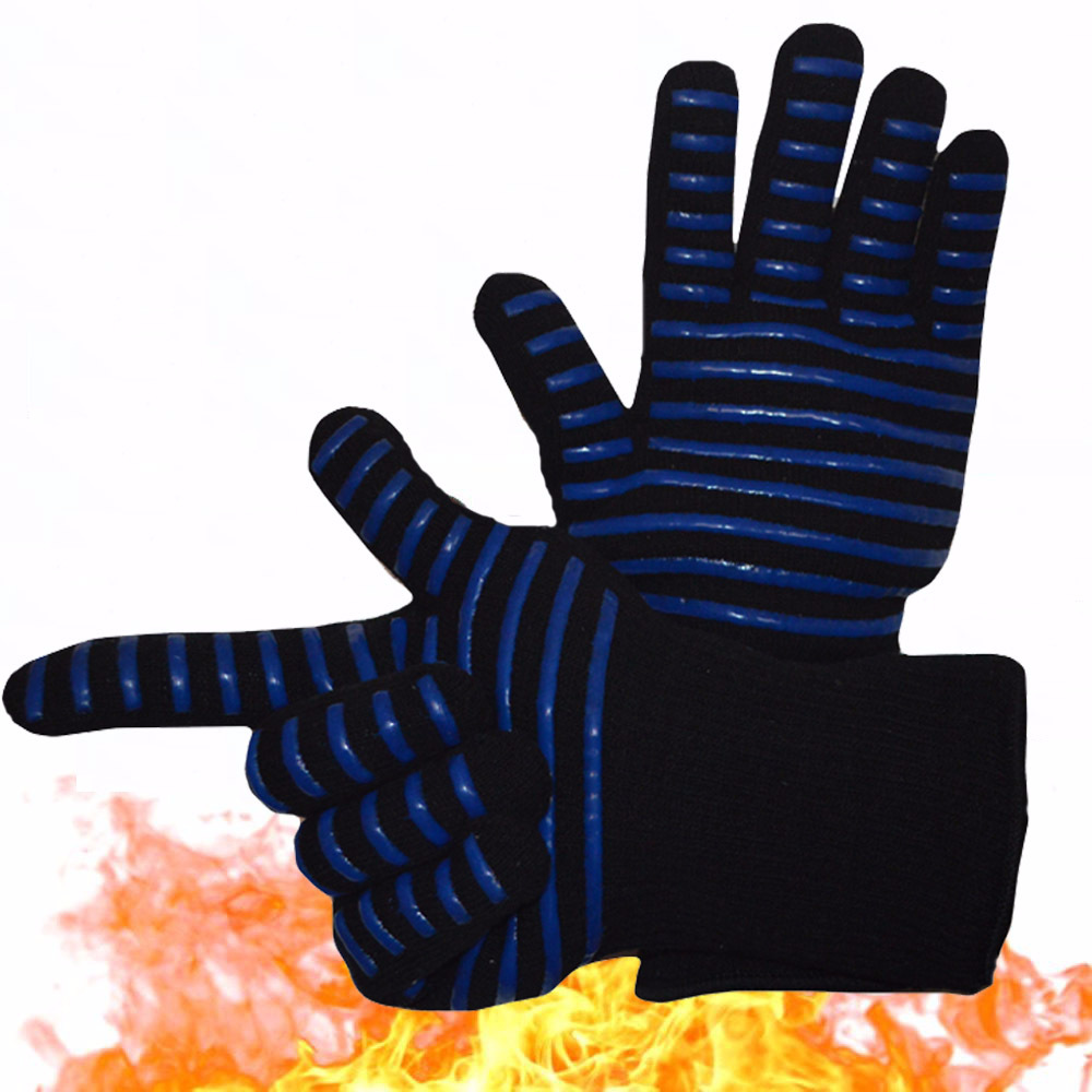 Heat Resistant Oven Mitts 932 Extreme Heat Proof Forearm Protection Perfect for Barbecue Cooking Baking Grilling in Gloves from Home Garden