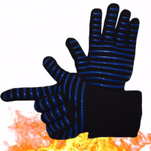Heat Resistant Oven Mitts- 932 Extreme Heat Proof Forearm Protection Perfect for Barbecue, Cooking, Baking,Grilling