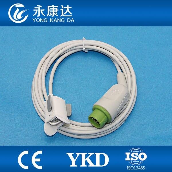 Compatible KONTRON pediatric finger clip SpO2 Sensor 3m,12pins