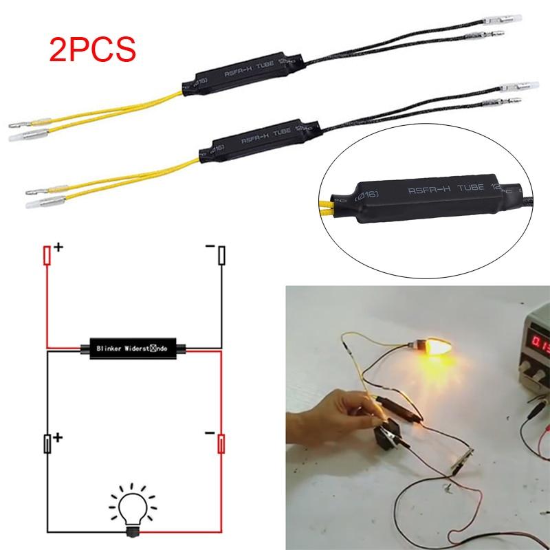 Motorbike LED Turn Signal Indicator Resistor Fix Error Flash Blinker Controllers Motorcycle LED Indicator Resistors
