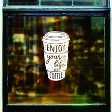 Dctal cafa decal The coffee shop stickers, the wall decorations  cafe decor mural etiqueta engomada stickers L8742
