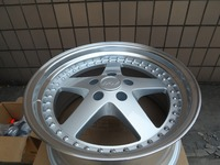 18 SILVER EQUIP STYLE RIMS FITS G35 G37 HONDA ACCORD AGGRESSIVE STAGGERED W015