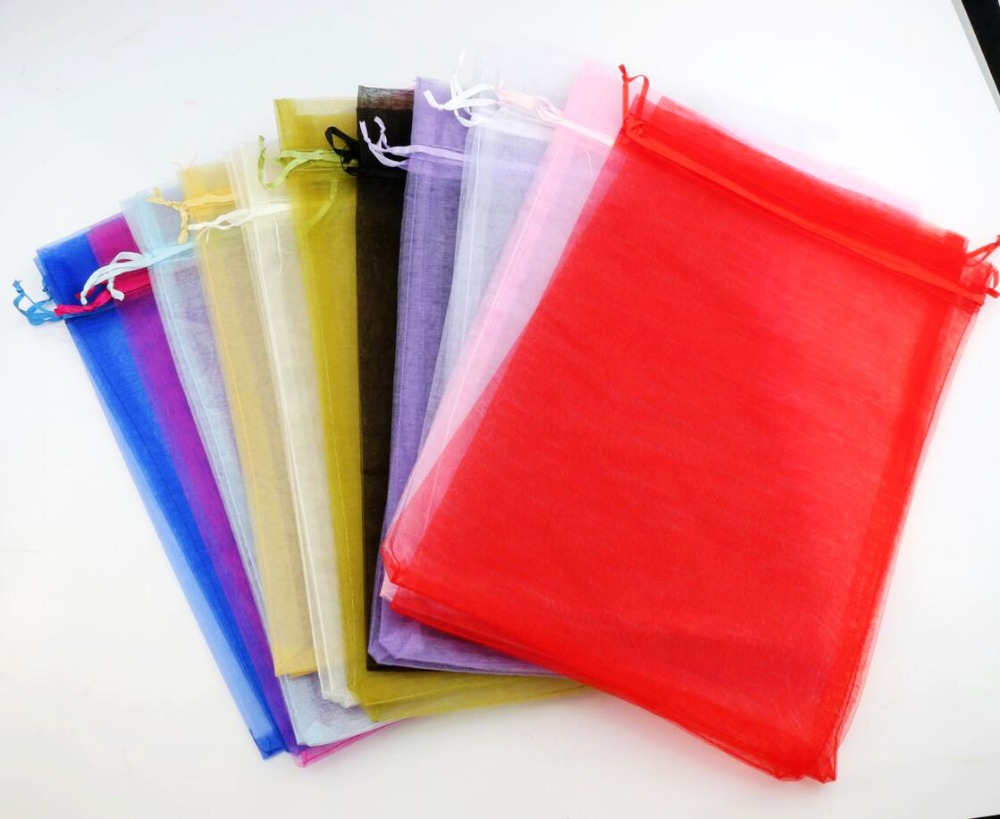 11colors Rectangle Organza Bags Wine Bottle Gift Pouches Candy Bag 20X30cm GB036