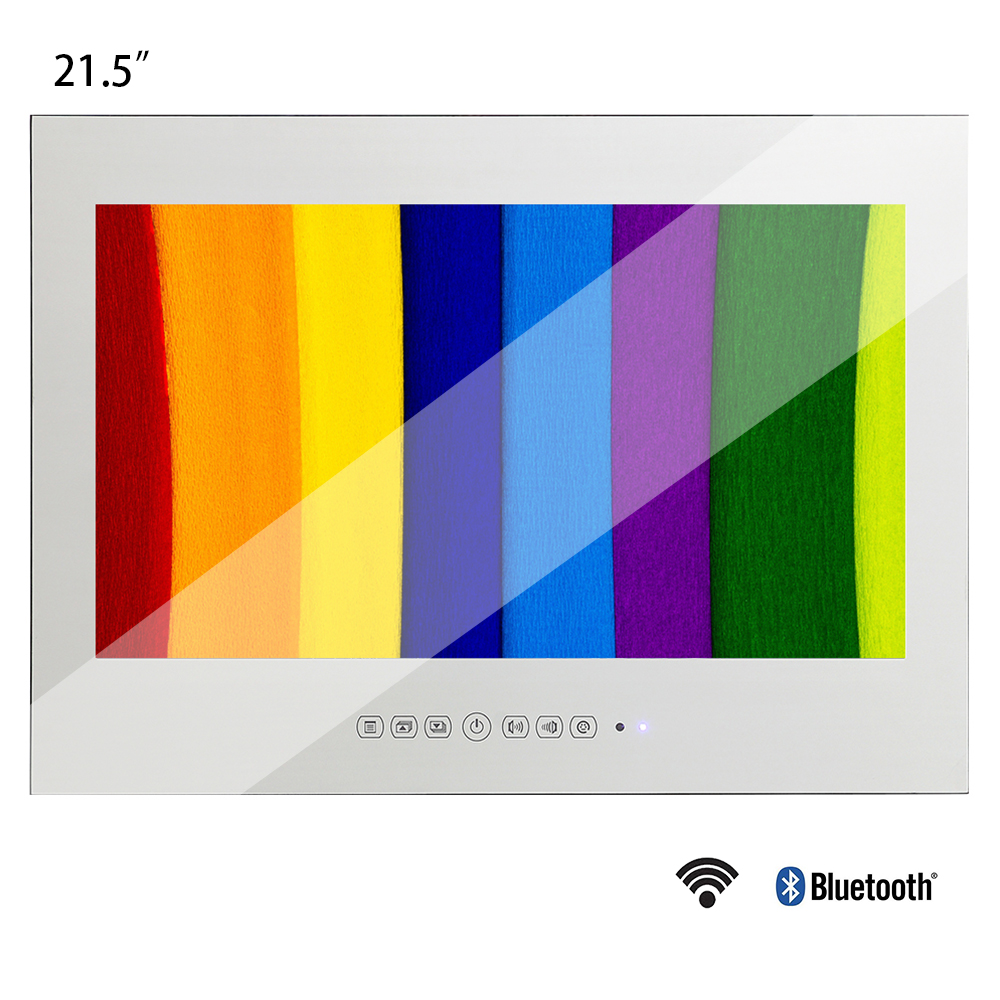 Souria 21.5 inch Full HD 1080P Android Smart Vanishing Glass Mirror Waterproof TV with LAN and Intergrated Wi-Fi(China)