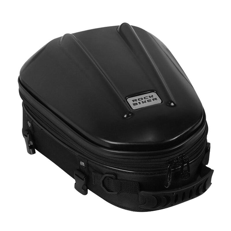 Rock Biker Motorcycle Tail Bag Waterproof Carbon Fiber Motorbike Tail bag Back Seat Bags Motorcycle Travel Bag Luggage