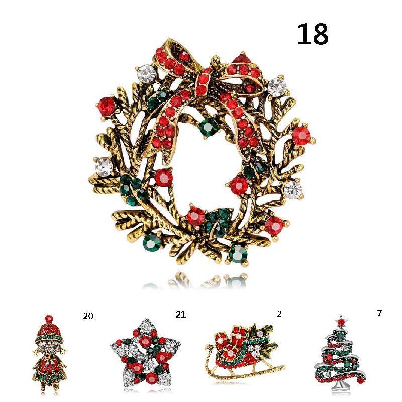 Schmuck Weihnachten.Stilvolle Broschen Weihnachten Schmuck Weihnachten Baum Santa Stiefel Schneemann Brosche Party Brosche Pin Cx17
