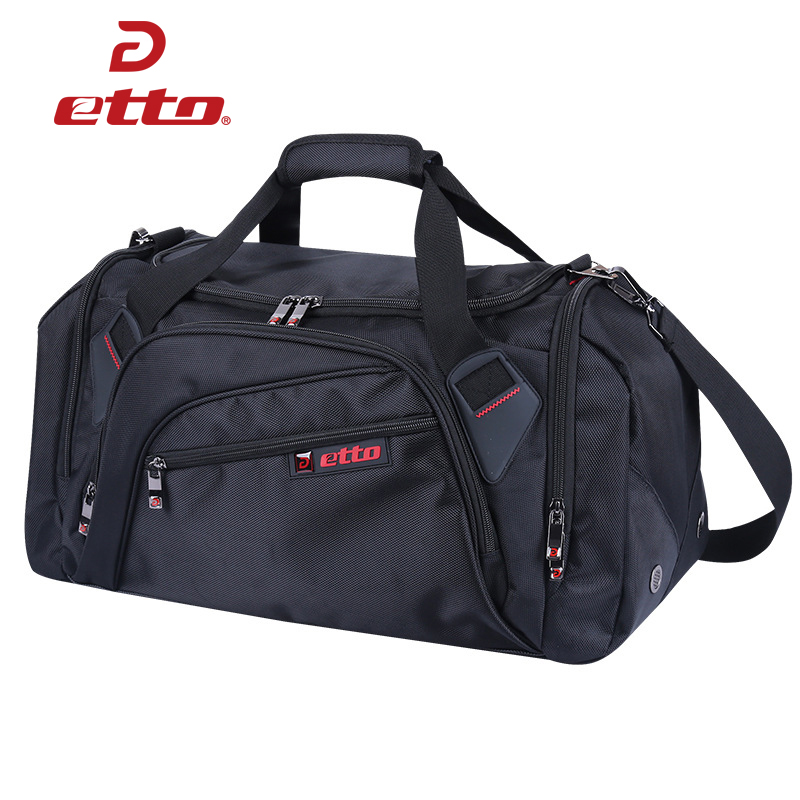 Etto Professional Large Sports Bag Gym Bag Men Women Independent Shoes Storage Training Bag Portable Shoulder Fitness Bag HAB002
