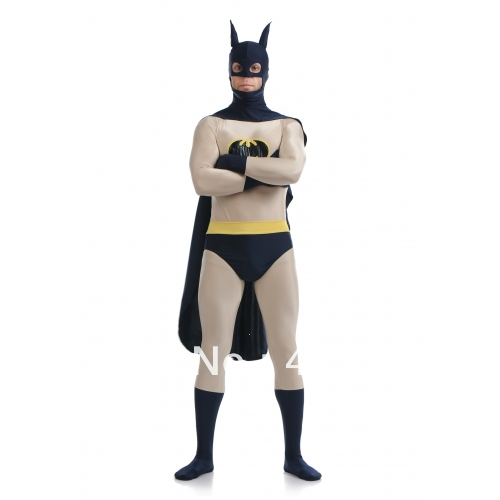 Batman costume dark blue & Grey Batman Superhero Costume Halloween Costumes