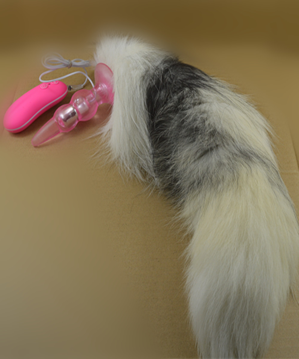 ФОТО Super Big Fox Tail Anal Plug In Adult Game For Female,10 Speed Vibrating Anus Beads Butt Plug,Erotic Sex Flirting Toys For Women
