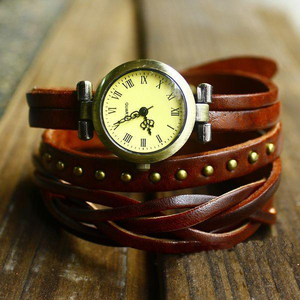 Antique Vintage Fashion Leather Strap Watch