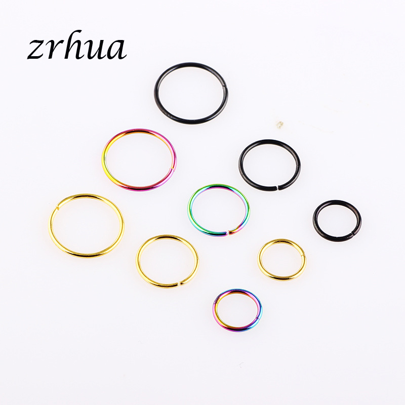 40PCS Nose Ring Septum Ring Hoop Cartilage Tragus Helix Small Piercing Jewelr ZY