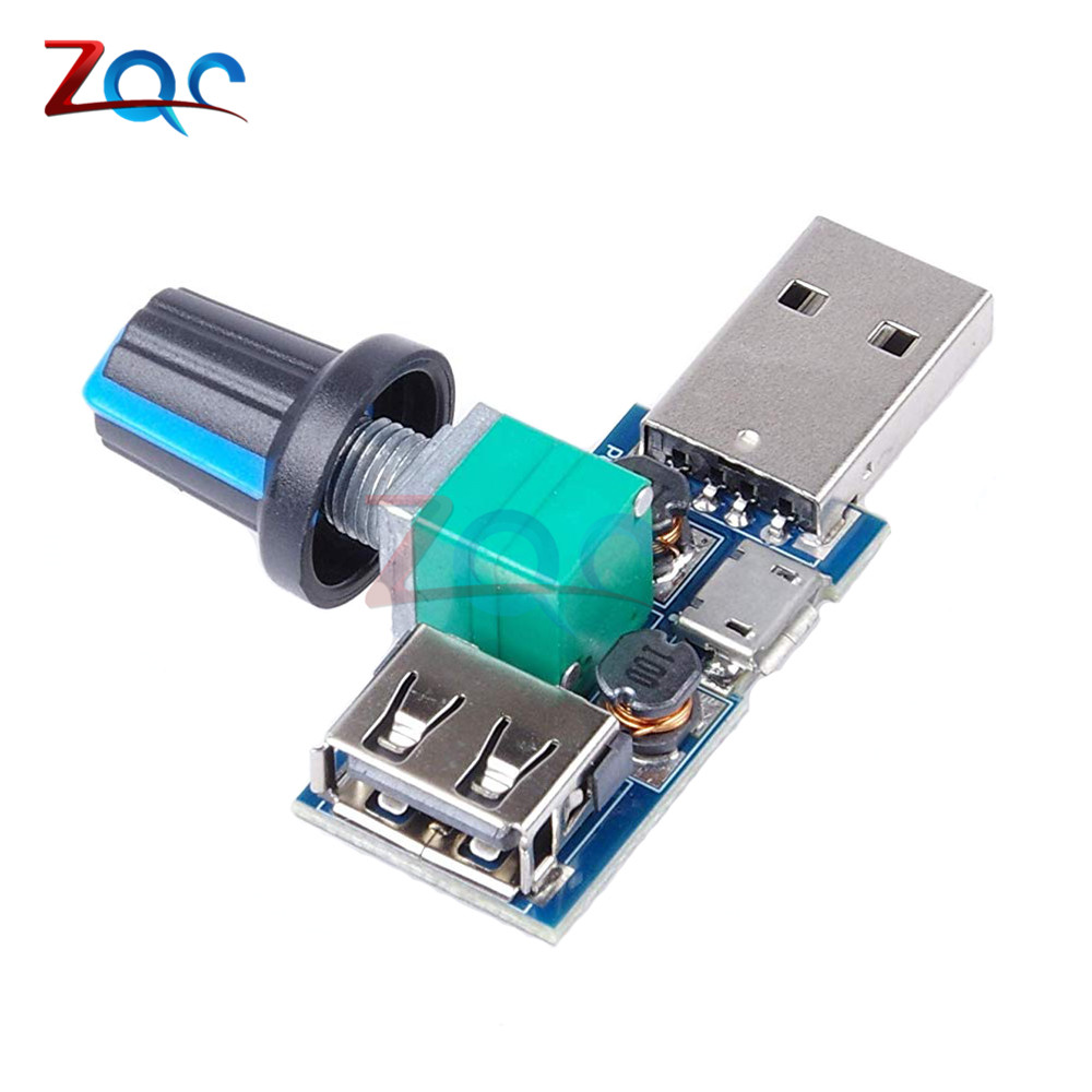 DC <font><b>5V</b></font> Micro USB <font><b>Fan</b></font> Governor Wind Speed Controller Air Volume Regulator Cooling Mute Multifunction Noise Reduction Switch Module image