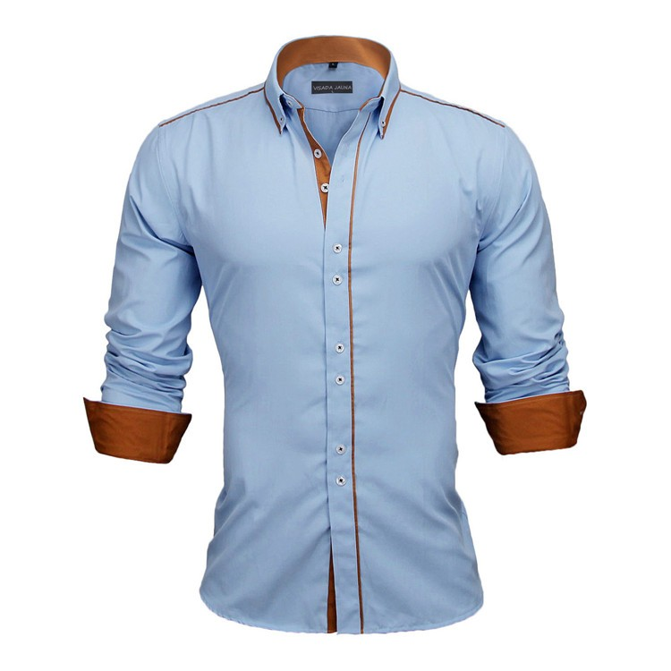 HTB1NxJvKVXXXXb6XpXXq6xXFXXXL - New Arrivals Slim Fit Male Shirt Solid Long Sleeve British Style Cotton Men's Shirt N332