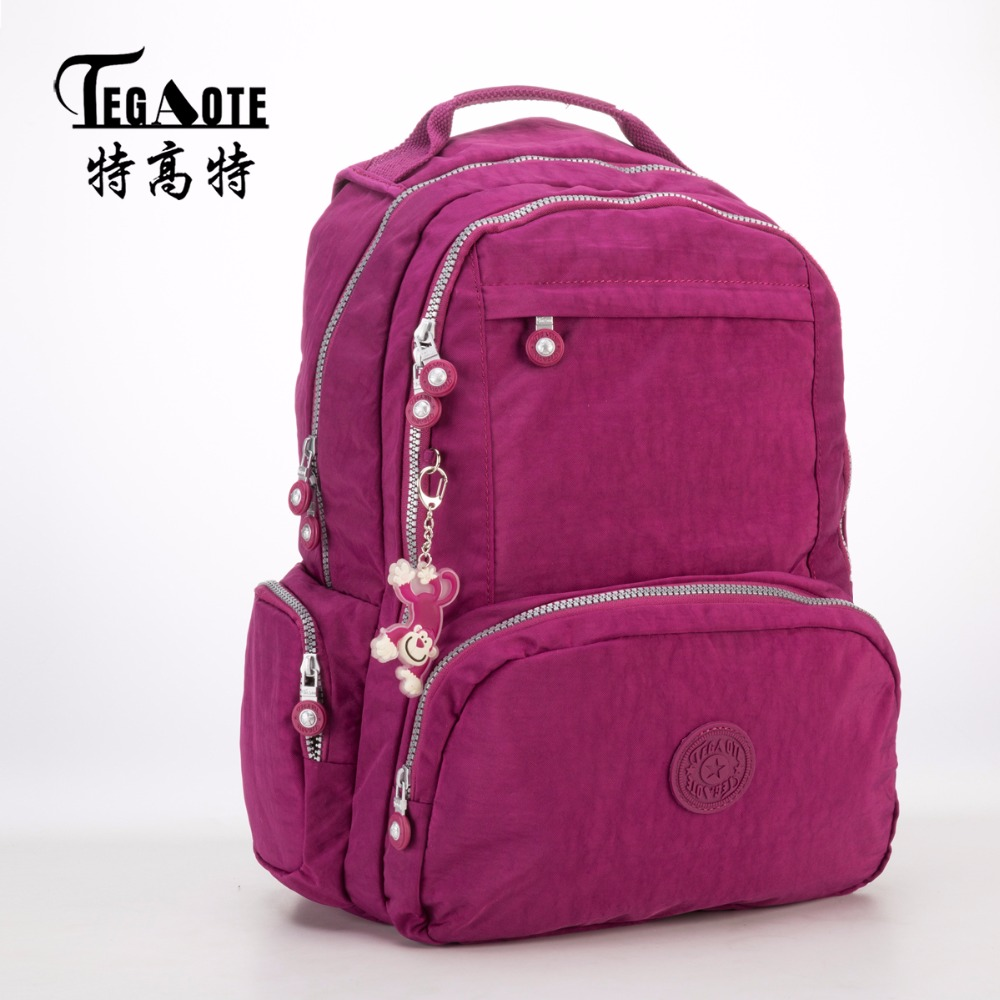 TEGAOTE Backpacks Women School Backpack for Teenage Girls Mochila Feminina Escolar Nylon Travel Laptop Bagpack Female Sac A Dos 2017 ethnic embroidered flower print backpacks women bags genuine leather backpack school bag sac a dos travel mochila feminina