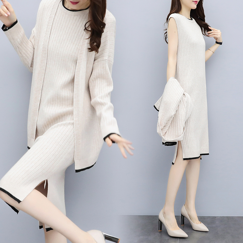 Detail Feedback Questions about Knitted Cardigan Skirt Set Woman Suit  Trendy Ensemble Femme Deux Pieces Office Work Year old Female Costume  Conjunto ... 950708d0759a