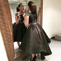 New Arrival Black Elegant Cocktail Dresses 2017 High Low Party Gowns Short Dresses De Festa Fast Shipping