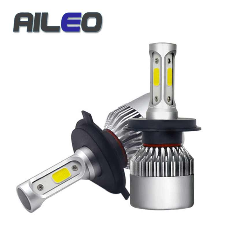 2PCS H4 CAR LED H7 H8 H1 H3 H11 9005 9006 9012 H27 880 881 9004 9007 9003 9008 COB 36W 6000K 8000LM Car Headlight Bulbs Fog lamp