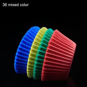 Image 5 - Tazas de papel para hornear, 100 Uds., caja de torta pequeña antiaceite, accesorios de cocina, forro para cupcakes, herramientas de decoración de pasteles