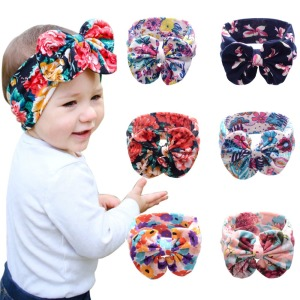 Girls Knot Headbands Cotton Hair Accessories for Girls Newborn Flower Hair band Kids Head Wrap Headwear