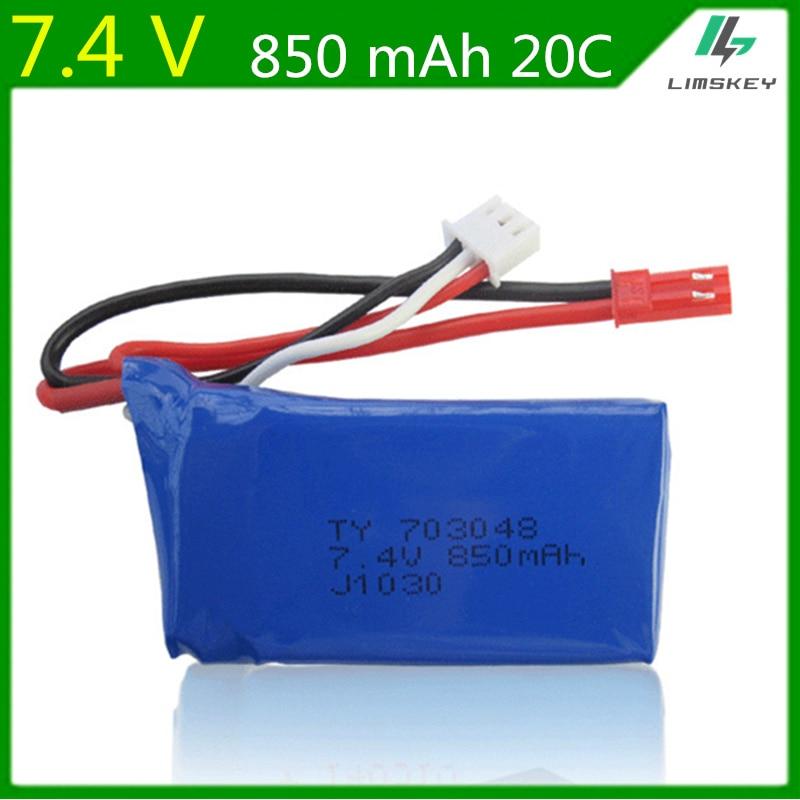 7.4 V 850 mAh 703048 lipo batterie Pour WLtoys V912 V262 V353 BQ202 UDI U829X modèle d'avion avions batteries lipo 2 s lipo 7.4 v